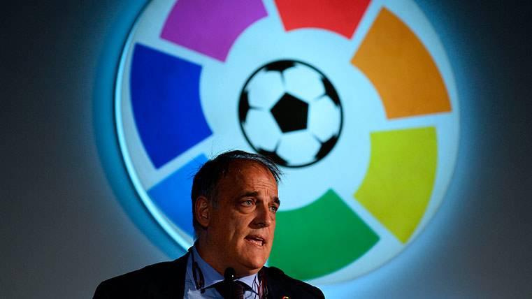 "Tebas, sobre el Barça: ""Estaban enfrentados conmigo"""