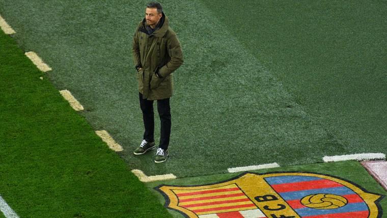 Luis Enrique, durante el FC Barcelona-Hércules de Copa del Rey