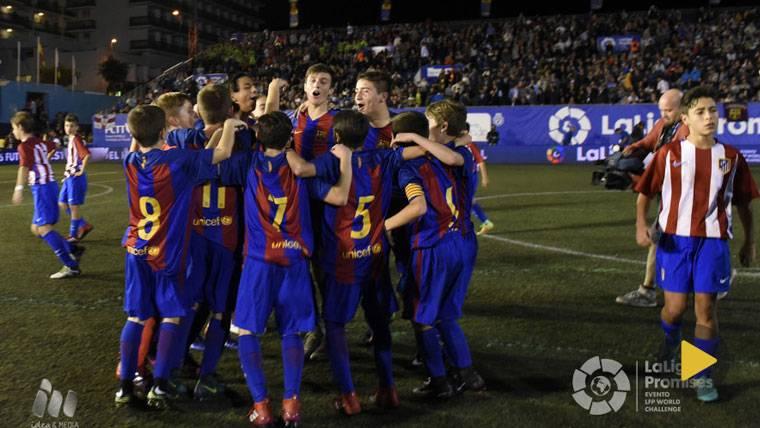"Obra de arte ""ADN Barça"" en la final de LaLiga Promises"