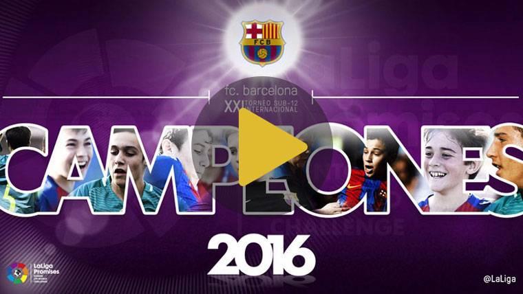 MARAVILLA: ¡El FC Barcelona, campeón de LaLiga Promises!