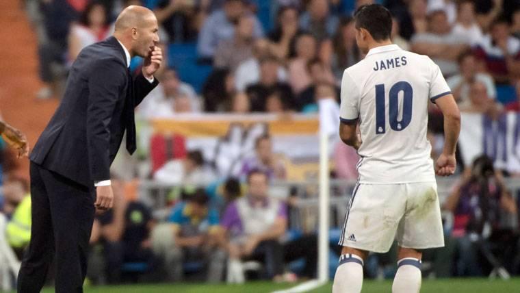 La conversación secreta de James Rodríguez con Zidane