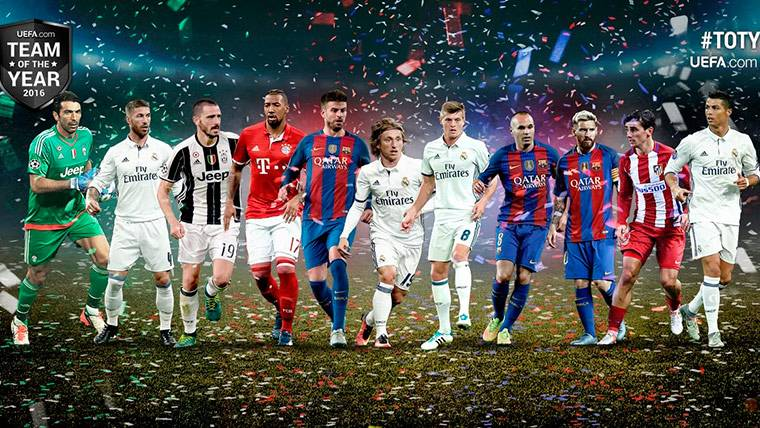 Los tres cracks del FC Barcelona del XI del año de la UEFA