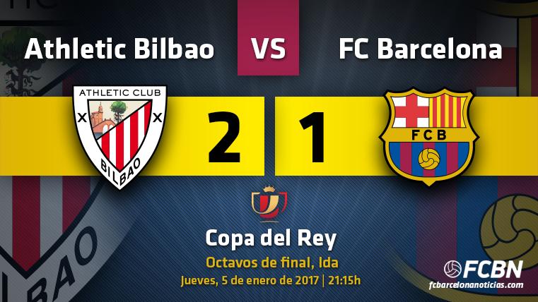 El FC Barcelona perdió ante el Athletic Club en la ida de octavos de Copa del Rey