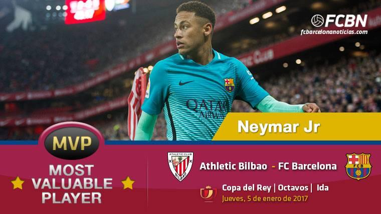 Neymar Jr, el mejor jugador del FC Barcelona contra el Athletic
