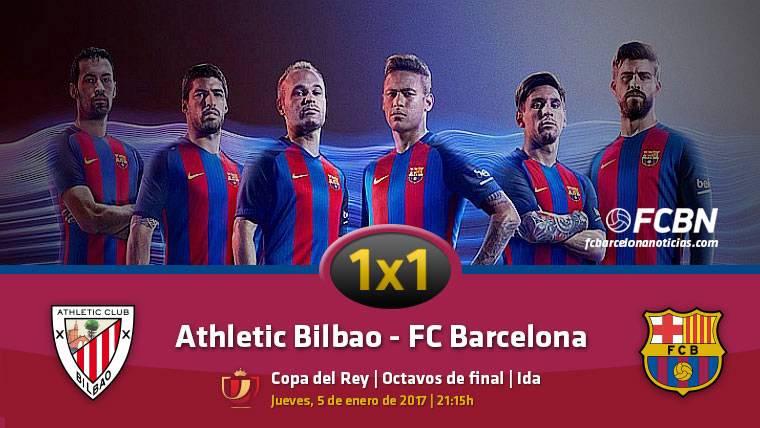 El 1x1 del FC Barcelona frente al Athletic (Ida 1/8 Copa)