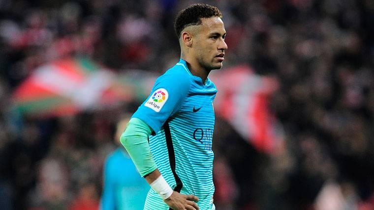 Neymar Jr, tras el partido contra el Athletic de Bilbao en San Mamés