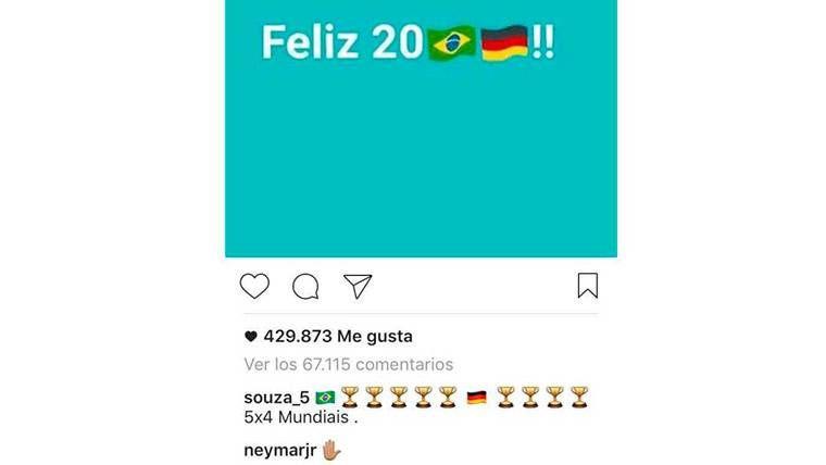 La respuesta de Neymar Júnior a Kroos por su vacialada Mundial
