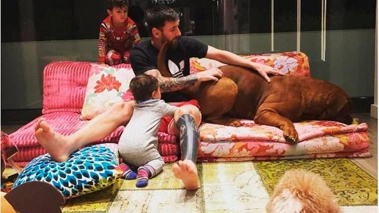 La preciosa escena familiar de los Messi-Rocuzzo