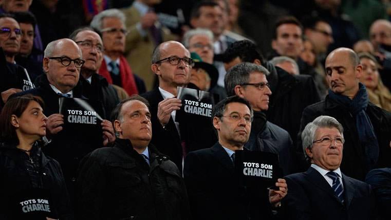 Así fue el reencuentro entre el FC Barcelona y Javier Tebas
