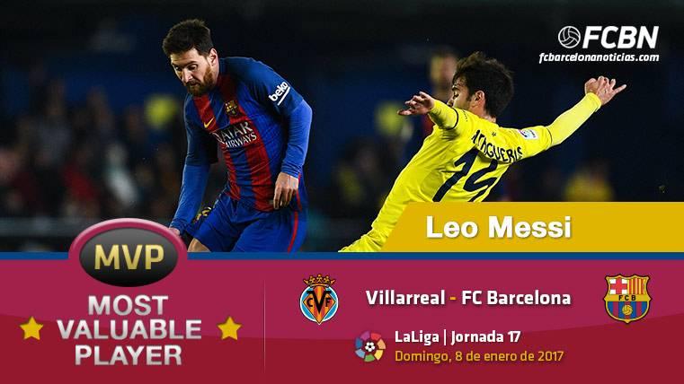 """Leo Messi, el """"MVP"""" del Villarreal-FC Barcelona"""