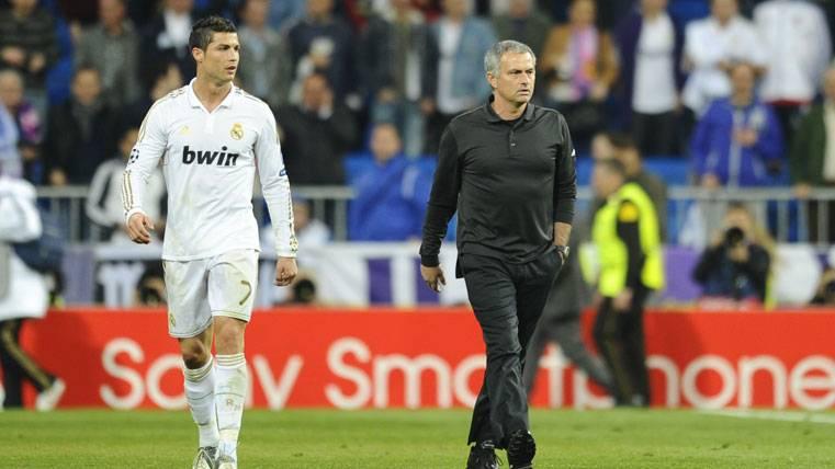 Cristiano Ronaldo y José Mourinho, en una imagen de archivo