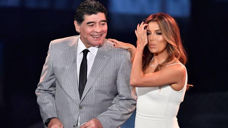 Diego Armando Maradona, durante la gala del FIFA The Best