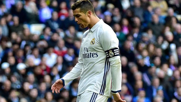 Cristiano Ronaldo, durante un partido esta temporada con el Real Madrid