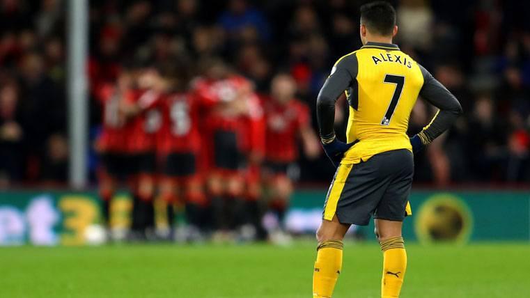 Alexis Sánchez, tras un gol encajado contra el Bournemouth