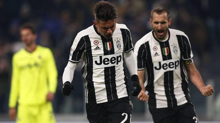 Paulo Dybala, celebrando un gol con la Juventus de Turín