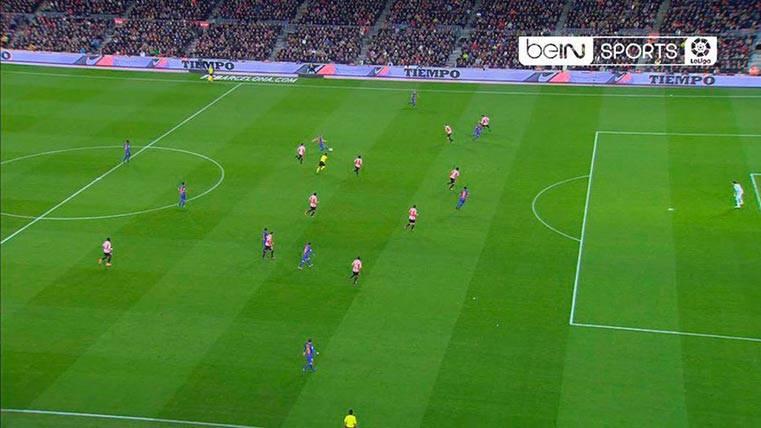 Fuera de juego inexistente de Neymar en el gol anulado al Barça