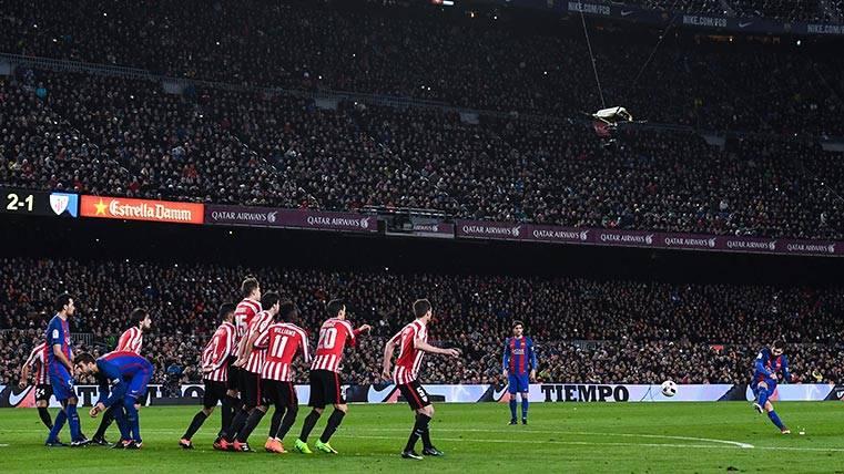 BESTIALIDAD: El Rey es Messi y lo volvió a demostrar de falta