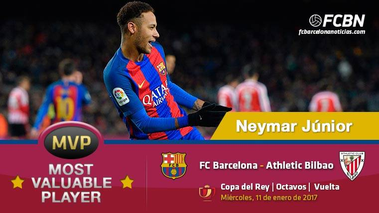 "Neymar Júnior, el ""MVP"" del FC Barcelona ante el Athletic Club"