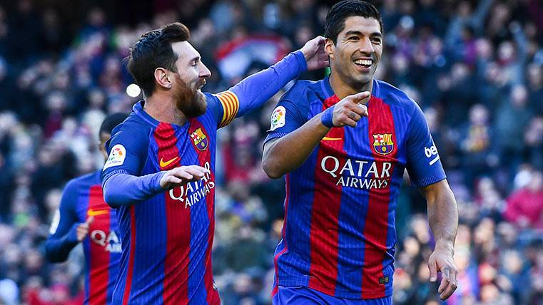 """""""Pichichi"""" Luis Suárez igualó a Messi a pase de André Gomes"""