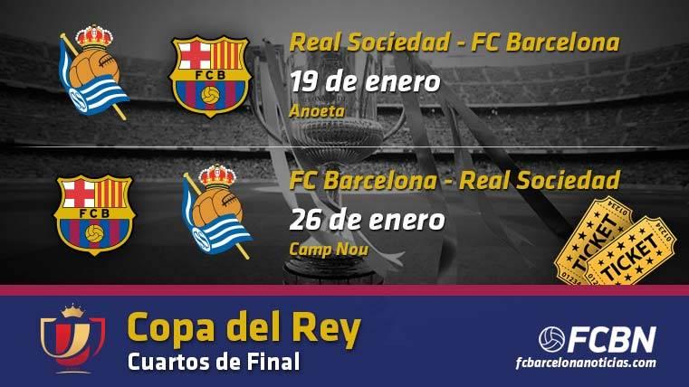 Entradas FC Barcelona vs Real Sociedad - Copa