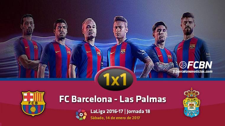 El 1x1 del FC Barcelona ante la UD Las Palmas (Liga J18)