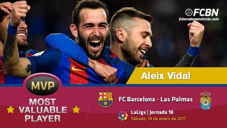 Aleix Vidal, el MVP del FC Barcelona frente a Las Palmas