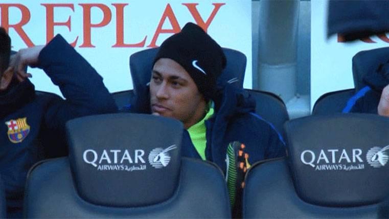 Así disfrutó Neymar del descanso en el Barça-Las Palmas