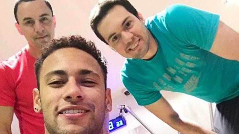 Trabajo duro de Neymar para estar a tope en San Sebastián