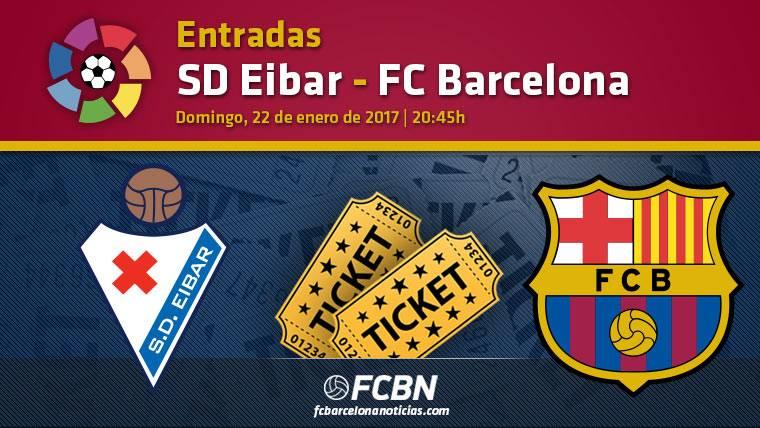 Entradas Eibar vs FC Barcelona