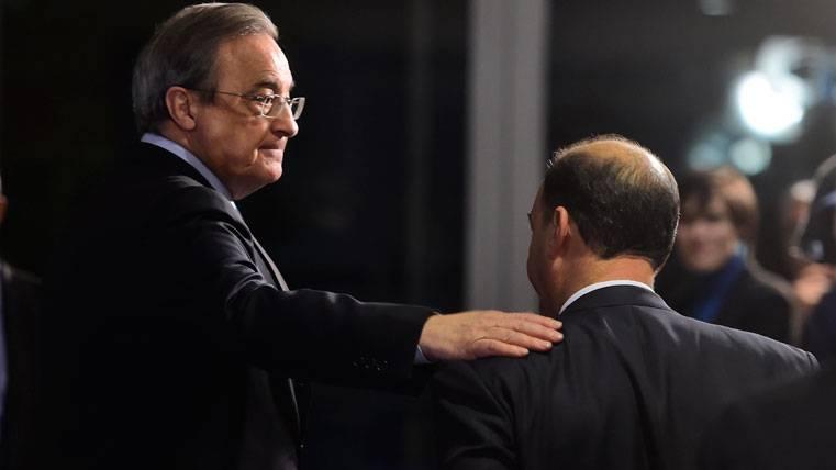 Florentino Pérez, antes de un acto con el Real Madrid