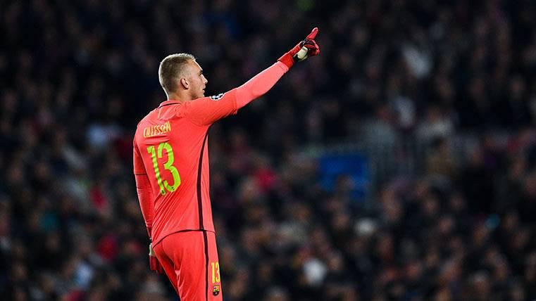 Cillessen vuelve a la portería del Barça tras tres meses