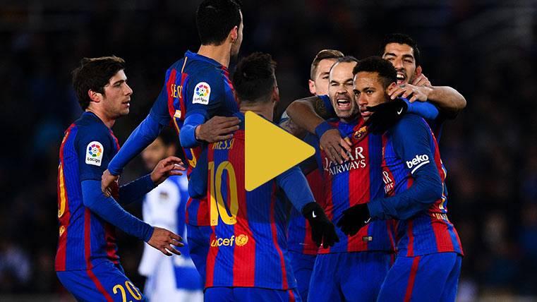 Vídeo resumen: Real Sociedad 0 FC Barcelona 1 (Ida 1/4 Copa)