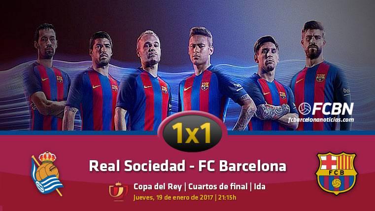El 1x1 del FC Barcelona frente a la Real Sociedad (ida 1/4 Copa)