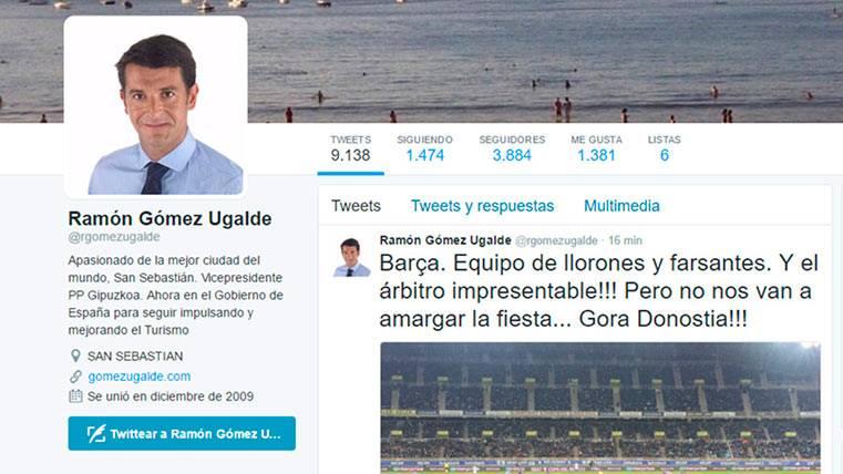 """Un político del PP acusa al Barça de """"llorones y farsantes"""""""