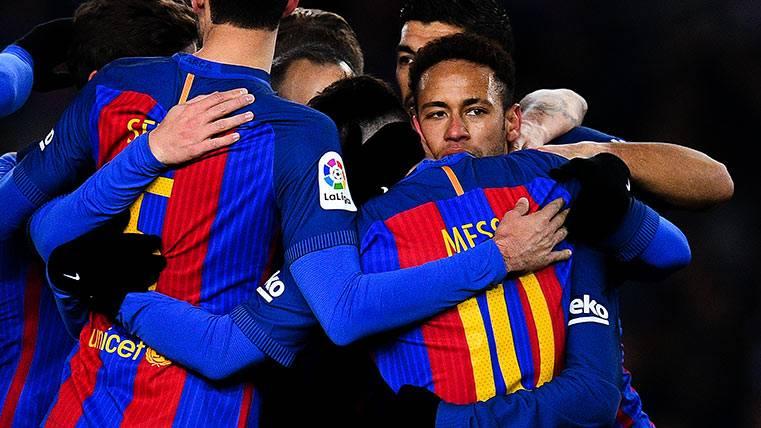La celebración más sentida del Barça tras conquistar Anoeta