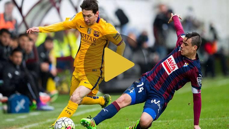 Messi estuvo a punto de repetir el gol del siglo en Ipurúa