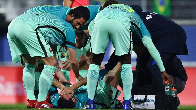 Las primeras impresiones de la lesión de Sergio Busquets