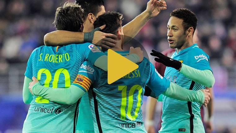 Vídeo resumen: Eibar 0 FC Barcelona 4 (Liga J19)