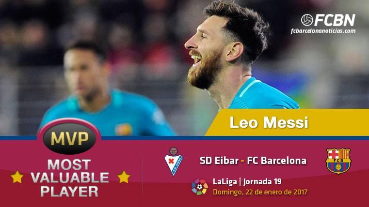 """Leo Messi, el """"MVP"""" del FC Barcelona contra el Eibar"""