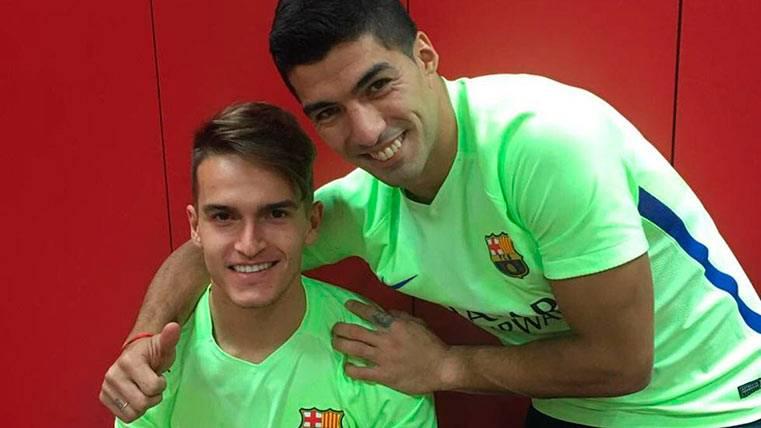 La felicitación más especial para Denis, de Suárez y Neymar