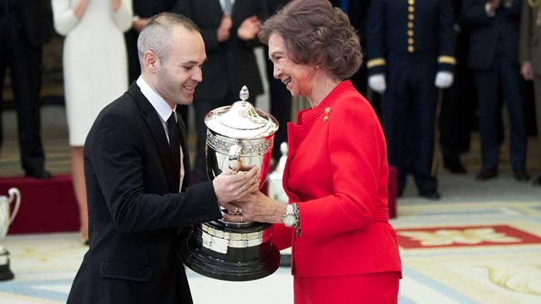 Andrés Iniesta, Premio Nacional del Deporte al juego limpio