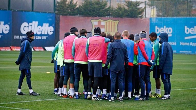 """La plantilla del Barça, motivada: """"Nos va la Liga en el Calderón"""""""