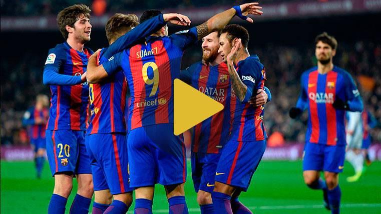 Vídeo resumen: Barcelona 5 Real Sociedad 2 (Vuelta 1/4 Copa)