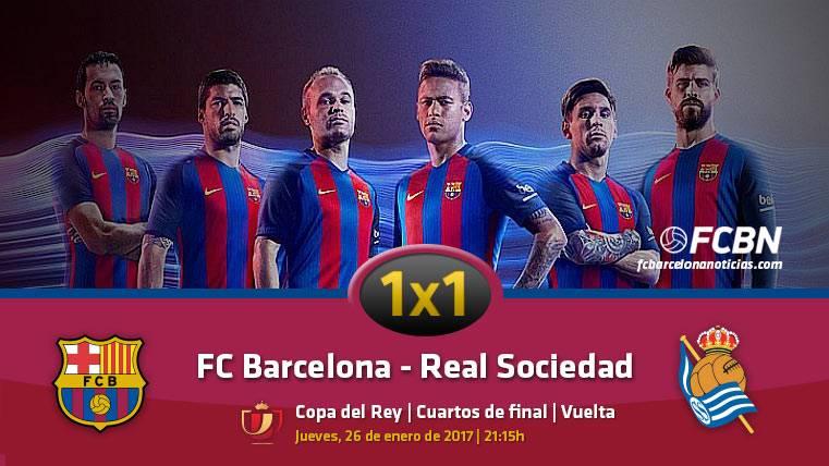 El 1x1 del FC Barcelona ante la Real Sociedad (1/4 vuelta Copa)