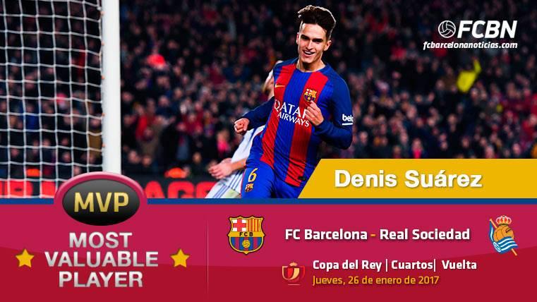 """Denis Suárez, el """"MVP"""" del FC Barcelona ante la Real Sociedad"""