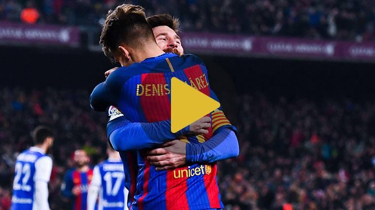 Los comienzos de una conexión mágica entre Denis y Messi