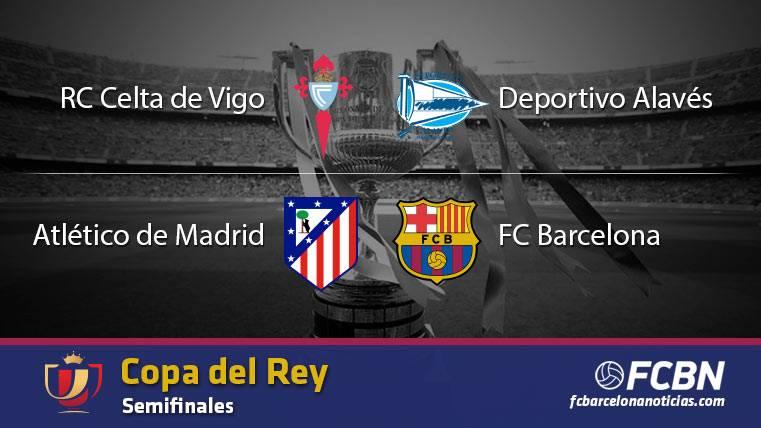 Así quedan las semifinales de la Copa del Rey 2016-2017