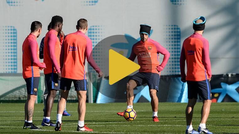 Rafinha, novedad en el entreno previo al Betis-Barça