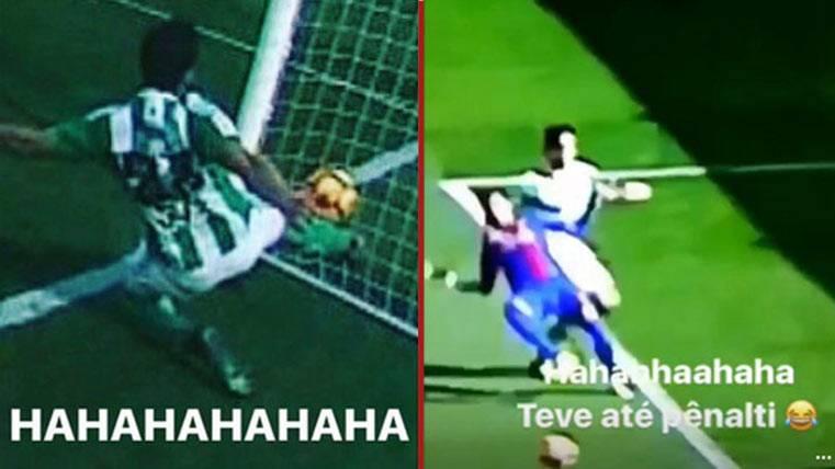 Neymar se ríe a carcajadas del arbitraje del Betis-Barça