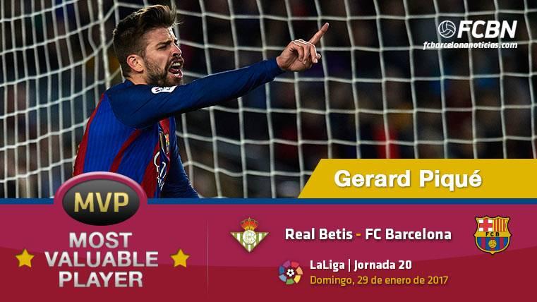 """Gerard Piqué, el """"MVP"""" del FC Barcelona ante el Betis"""